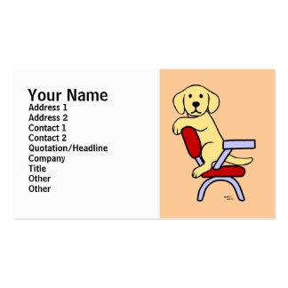 Yellow Labrador Student 3 Cartoon Business Card