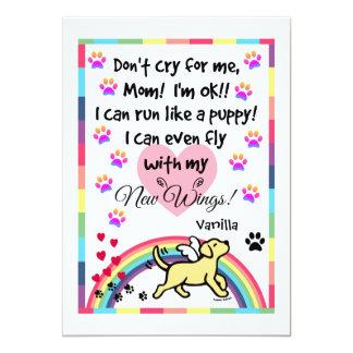 Yellow Labrador Trotting Memorial Card 13 Cm X 18 Cm Invitation Card