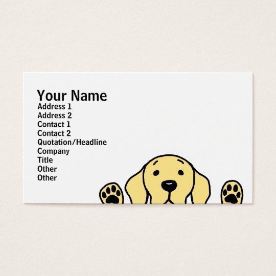 Yellow Labrador watching you Business Card
