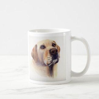 Yellow Labrador with breed information text Mug