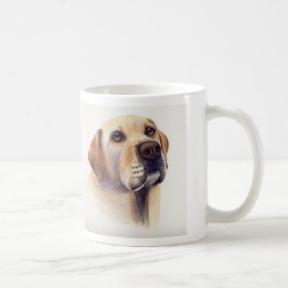 """Yellow Labrador with """"With these eyes..."""" text Basic White Mug"""