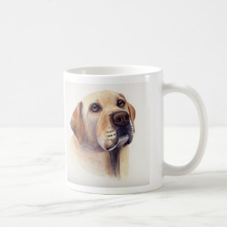 """Yellow Labrador with """"Woman's Best Friend"""" text Basic White Mug"""