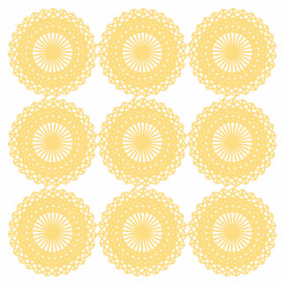 Yellow Lace Design Pattern Photo Cut Out