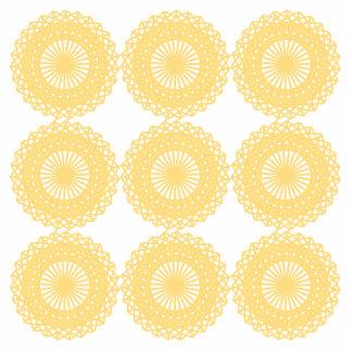Yellow Lace Design Pattern. Photo Sculpture Magnet