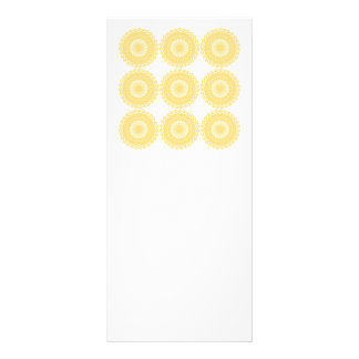 Yellow Lace Design Pattern Rack Card Design