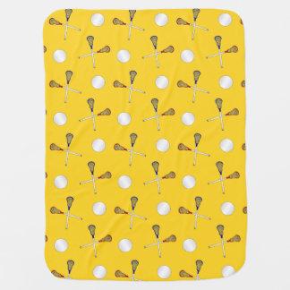 Yellow lacrosse pattern pramblankets