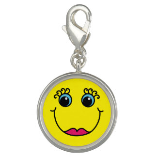 Yellow Lady Smiley Face