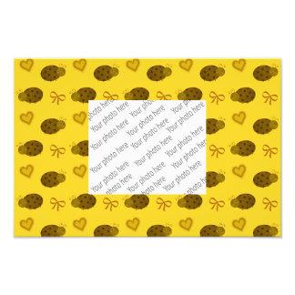 Yellow ladybugs hearts bows pattern art photo