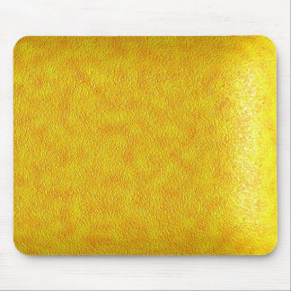 Yellow Leather Mouse Mat