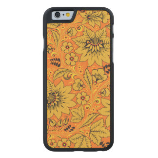 Yellow Leaves Carved® Maple iPhone 6 Case