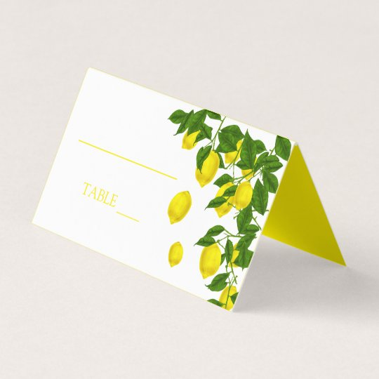 Yellow Lemon And Green Leaves Citrus Wedding Party