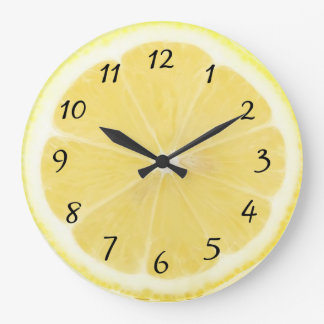 Yellow Lemon Kitchen Clock