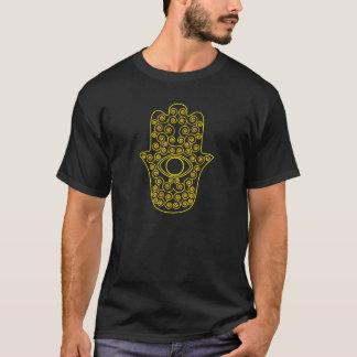 Yellow Lemon Outline Hamsa-Hand of Miriam-Hand of T-Shirt