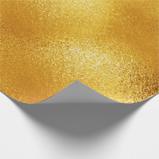 Yellow Lemon Shiny Glass Ice Vip Wrapping Paper