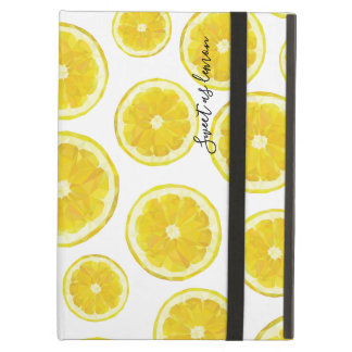 Yellow lemon slice hitech low poly design iPad air cover