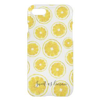 Yellow lemon slice pattern low poly hitech design iPhone 8/7 case