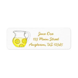 Yellow Lemonade Lemon Ade Pitcher Labels