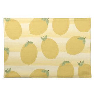 Yellow Lemons Summer Fruit Watercolor Fun Bright Placemat