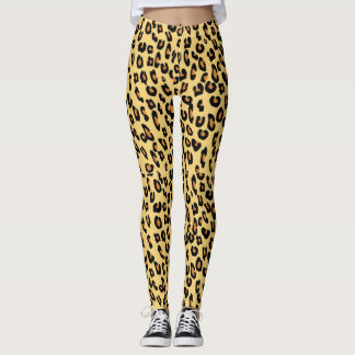 Yellow Leopard Print Leggings