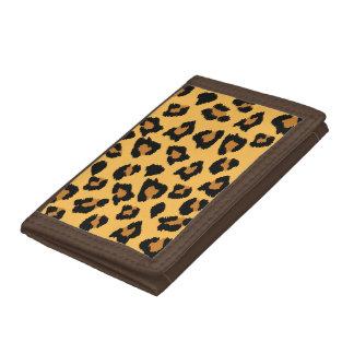 Yellow Leopard Print Nylon Wallet