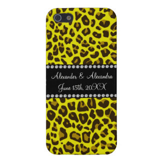 Yellow leopard wedding favors cover for iPhone 5