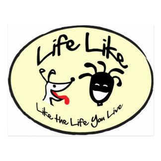 "Yellow ""Life Like Stuff"" Brand Logo Postcard"