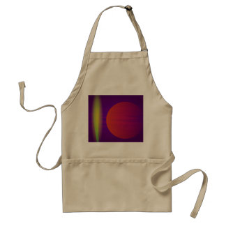 Yellow Light and the Moon Adult Apron