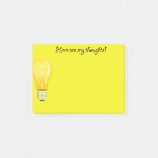 Yellow Light Bulb Note Pads