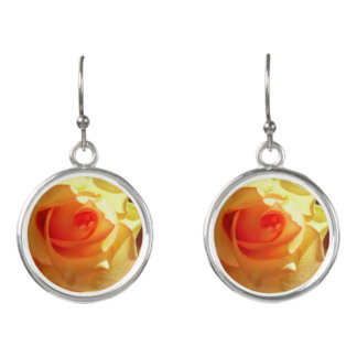 Yellow Light Rose Earrings