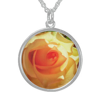 Yellow Light Rose Sterling Silver Necklace
