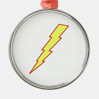Yellow Lightning Bolt Christmas Ornament