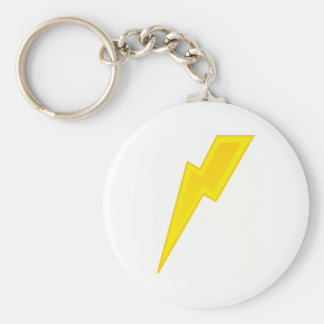 Yellow Lightning Bolt Key Ring