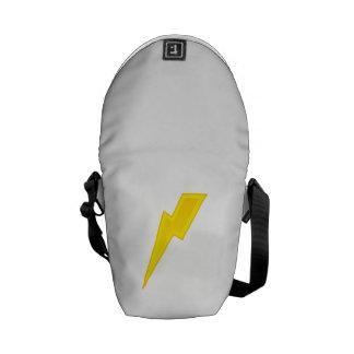 Yellow Lightning Bolt Courier Bag
