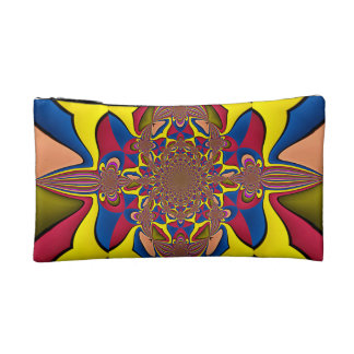 Yellow Lilac Abstract Flower Cosmetic Bag