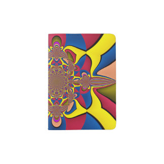 Yellow Lilac Abstract Flower Passport Holder