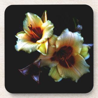 Yellow Lilies Glow Drink Coaster