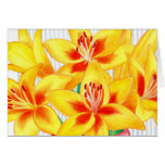 Yellow Lilies Note Card