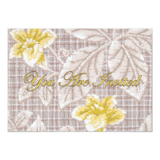 Yellow Lillies vintage Wallpaper Invitations