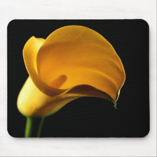 Yellow Lilly Flower Floral Pretty Elegant Mouse Mat