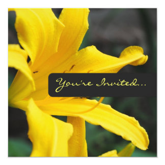 Yellow Lilly Invitations
