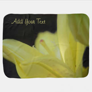 Yellow Lily by Shirley Taylor Baby Blanket