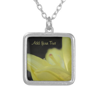 Yellow Lily by Shirley Taylor Silver Plated Necklace