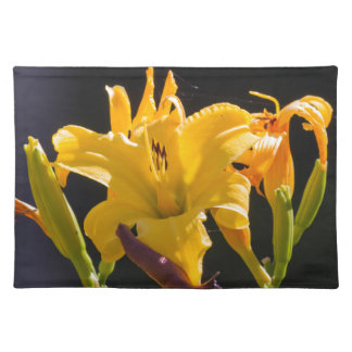 yellow lily in the garden placemat