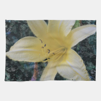 yellow lily kitchen towel