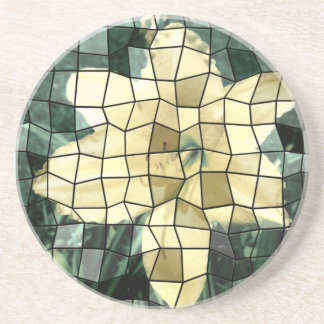Yellow Lily Mosaic Picture Coasters