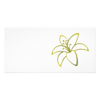Yellow Lily Photo Greeting Card