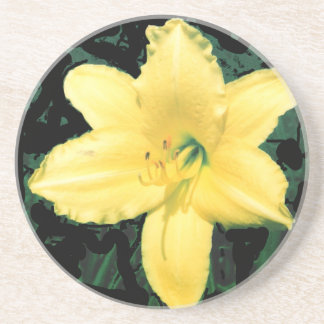 Yellow Lily Picture Beverage Coaster