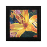 Yellow Lily Small Square Gift Box