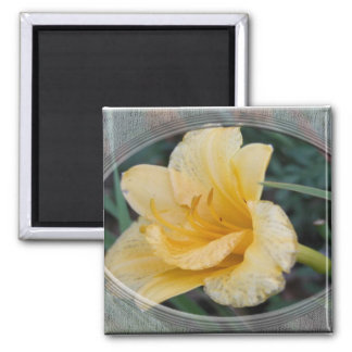 Yellow Lily Square Magnet
