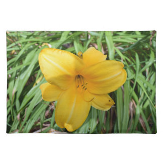 Yellow lily up close placemat